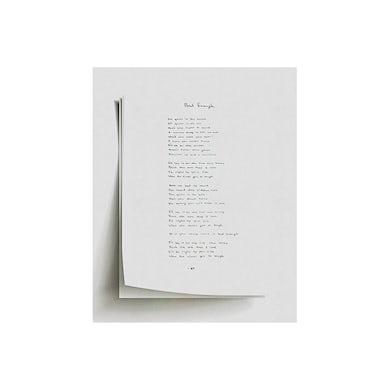 Night Traveler Handwritten Lyrics