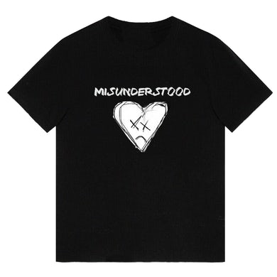 """Xuitcasecity XCC """"Misunderstood"""" Short-Sleeve Black T-Shirt"""