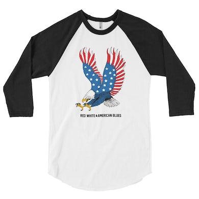 David Morris Eagle Baseball 3/4 Tee (BLACK/WHITE)