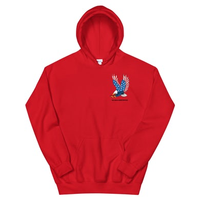 Eagle Hoodie *RED* (Front & Back Print)