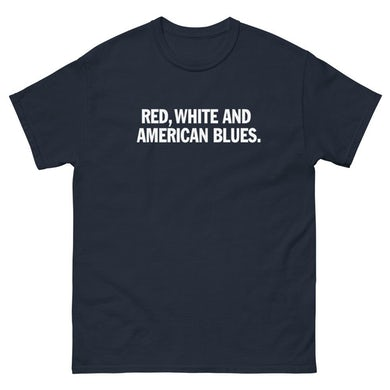 "David Morris ""Red, White & American Blues"" Text T-Shirt"