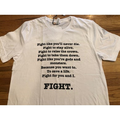 All Good Things White FIGHT T-Shirt