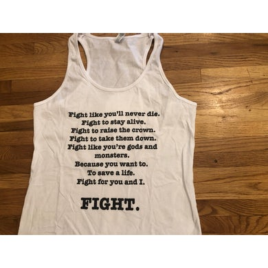 All Good Things White FIGHT Girls Tank