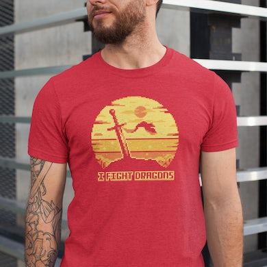 I Fight Dragons Sunset T-Shirt