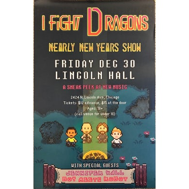 I Fight Dragons Nearly New Years 2016 Poster