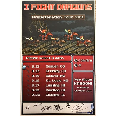 I Fight Dragons PreDetonation Tour Poster