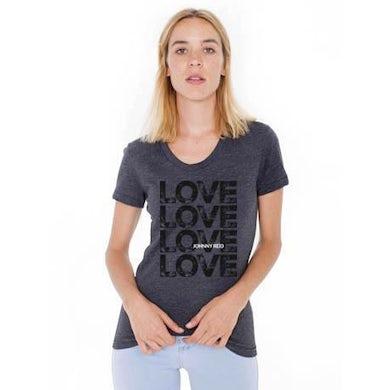 """Johnny Reid Women's Scoop Neck """"Love"""" T-shirt"""