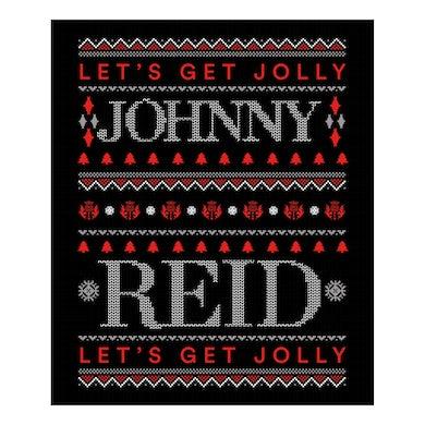 "Johnny Reid Limited Edition ""Let's Get Jolly"" Microfleece Blanket"