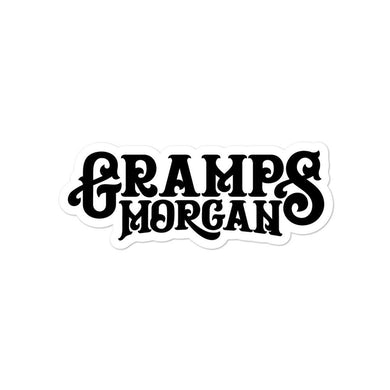 Gramps Morgan Logo Sticker