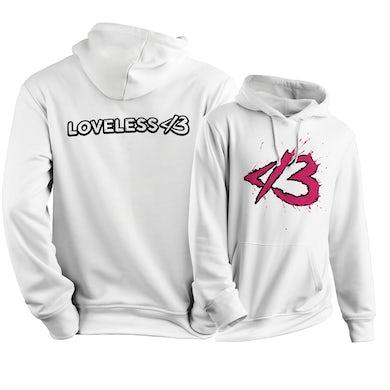 White-n-Pink Loveless Logo Hoodie
