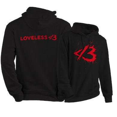 Black-n-Red Loveless Logo Hoodie