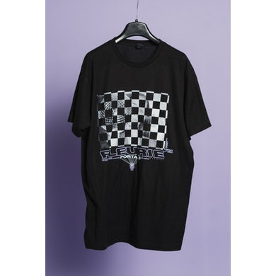 Fleurie Black Checkerboard Tee