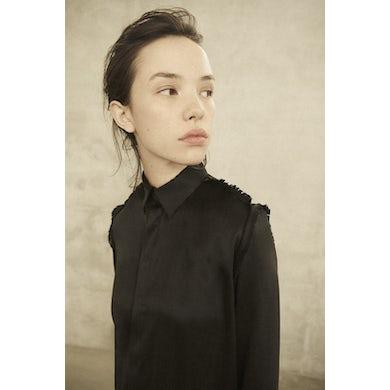 Annie Hamilton  CLASSIC SHIRT  //  BLACK SATIN - size 6