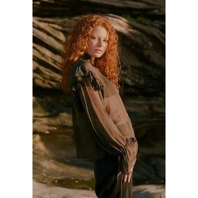 Annie Hamilton  Ruffle Shirt // Olive