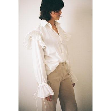 Annie Hamilton  Ruffle Shirt // White