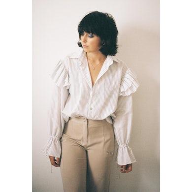 Annie Hamilton  Ruffle Shirt // Pinstripe