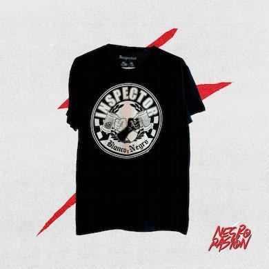 Camiseta - Inspector - Blanco y Negro