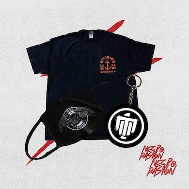Combo - División Minúscula - Camiseta + Cubrebocas + Llavero