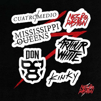 Arthur White Sticker Pack #2 - Bandas Negro Pasión