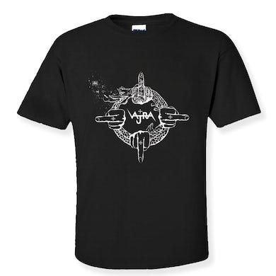 Vajra White and Black Ouroboros Unisex T-Shirt
