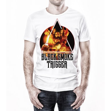 Black Smoke Trigger Photo Art Shirt - White
