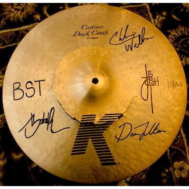 Black Smoke Trigger Used Cymbal - Signed by Josh Te Maro / BST