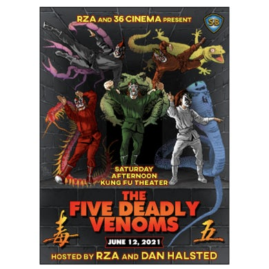 Wu-Tang Clan The Five Deadly Venoms Poster