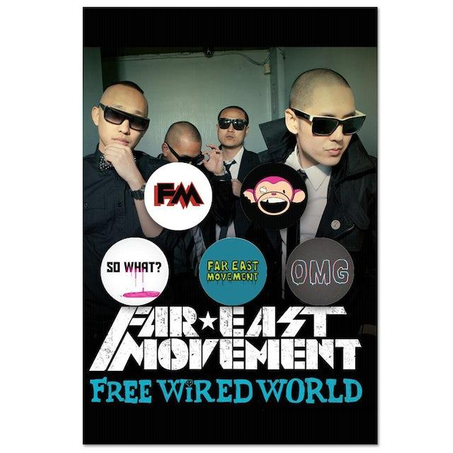Far East Movement Button Set