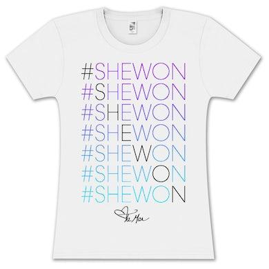Tamar Braxton Tamar #Shewon Stacked Gradient Girlie T-Shirt