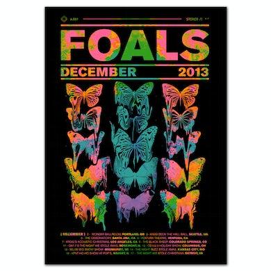 Foals Neon Butterfly Poster