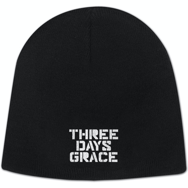 Three Days Grace Stencil Stacked Logo Beanie