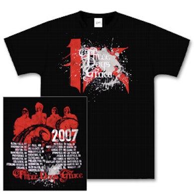 Three Days Grace 4X Black Splatter T-Shirt