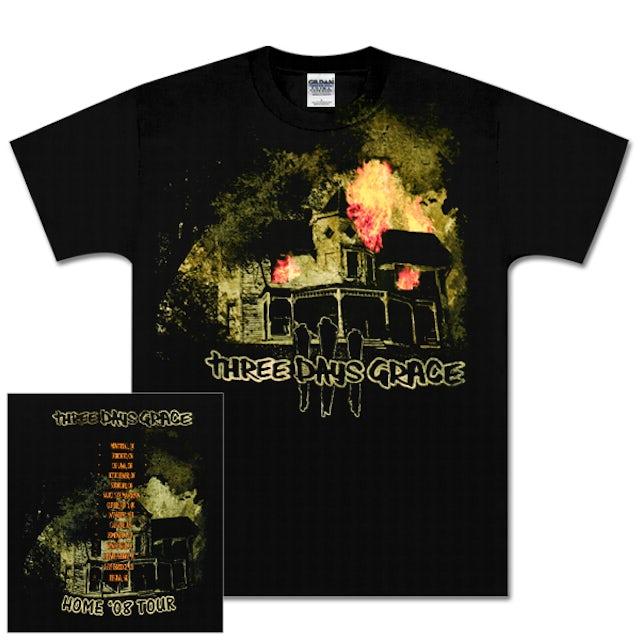 Three Days Grace Burning House T-Shirt