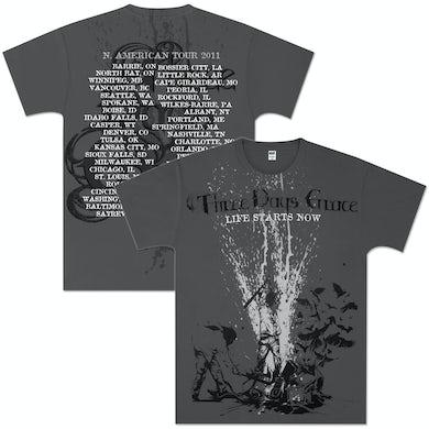 Three Days Grace Beatdown 2011 Tour T-Shirt