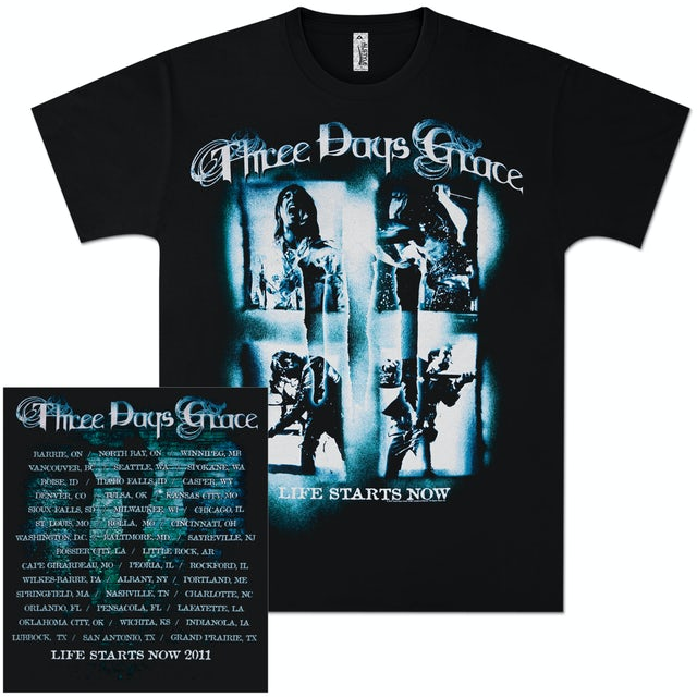 Three Days Grace Scream Squares 2011 Tour T-Shirt