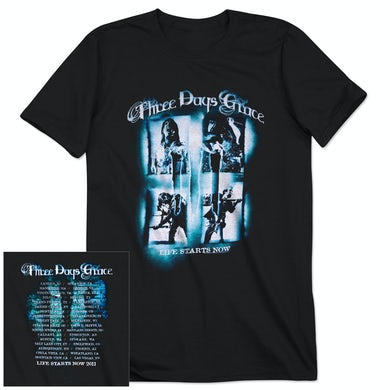 Three Days Grace Life Starts Now 2011 Tour T-Shirt