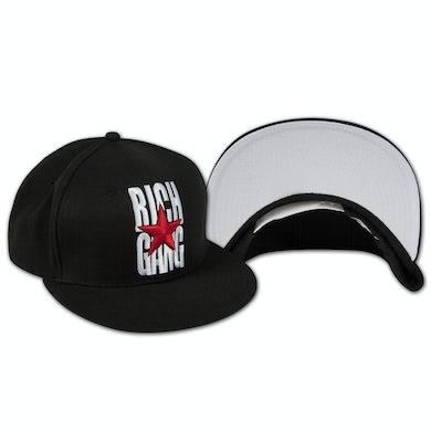 Rich Gang Logo Snap Back Hat In Black