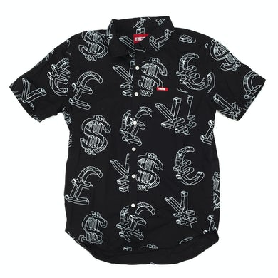 YMCMB Currency Woven Button Up