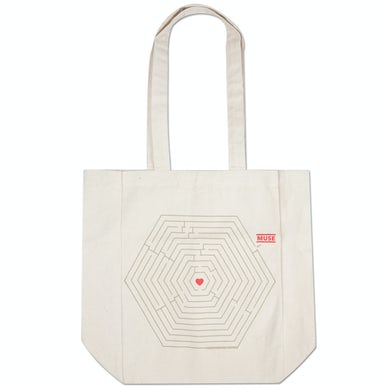 Muse Hex Heart Maze Totebag