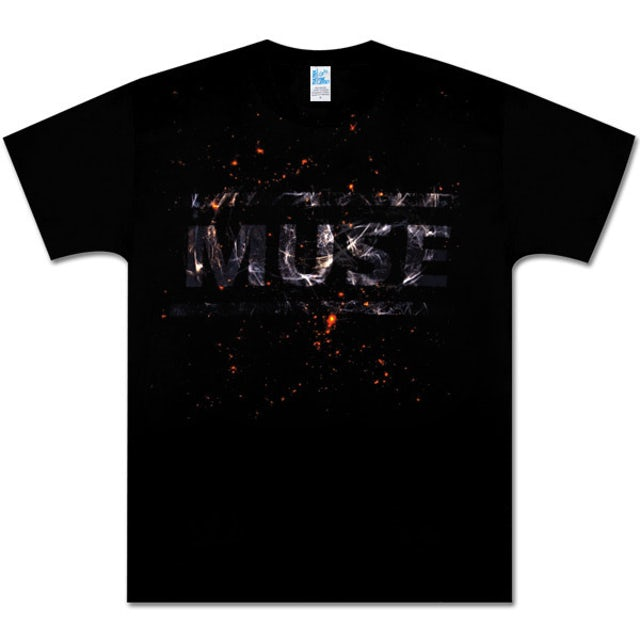 Muse Static Design Black T-Shirt