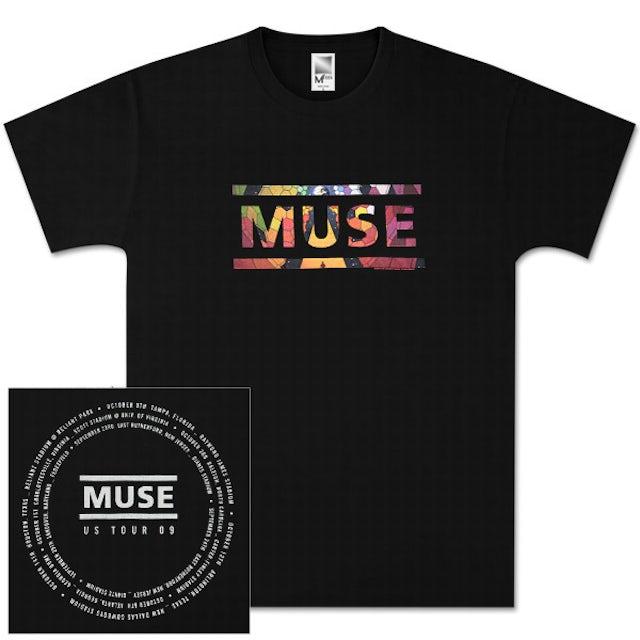 Muse Album Overlay Black T-Shirt