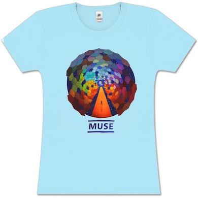 96300faf Muse Fade Resistance Light Blue Women's T-Shirt