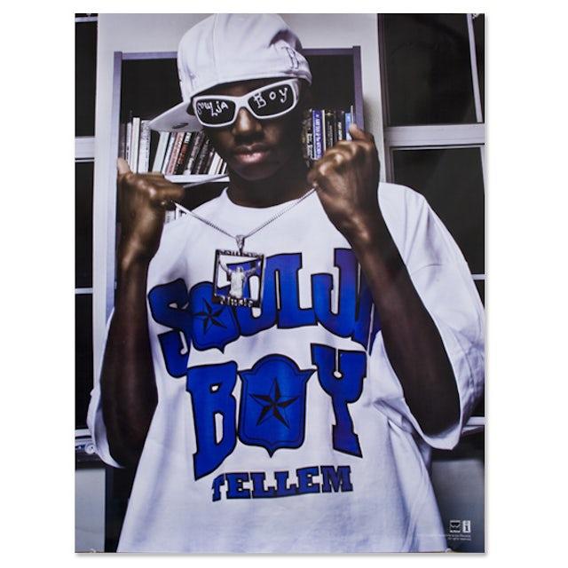 Soulja Boy Tell 'Em Standing White Tee Poster