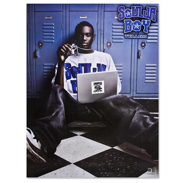 Soulja Boy Tell 'Em Sitting White Tee Poster