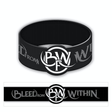 Bleed from Within Circle Logo Rubber Bracelet