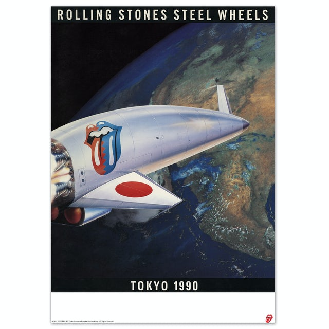 The Rolling Stones Steel Wheels Lithograph