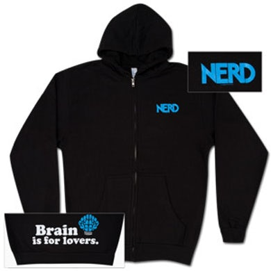 N.E.R.D. Black Brain Zip Hoodie