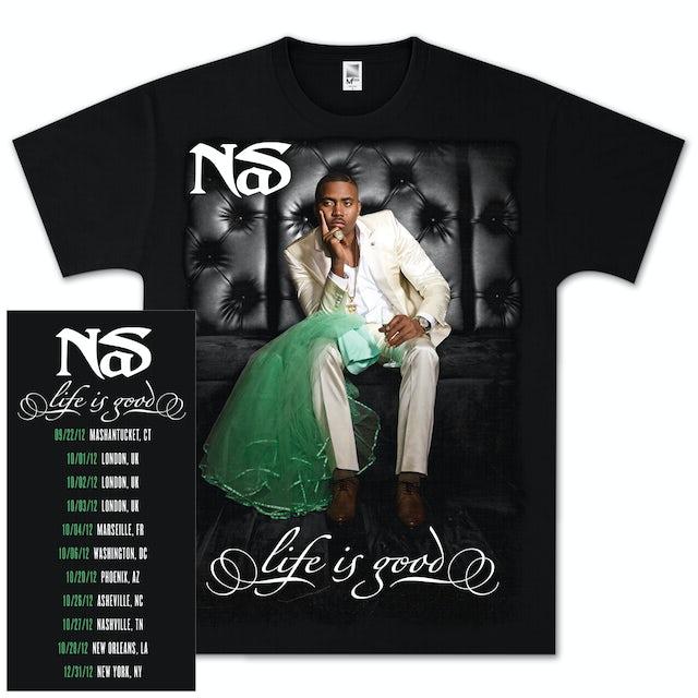 Nas Life is Good Album Cover T-Shirt