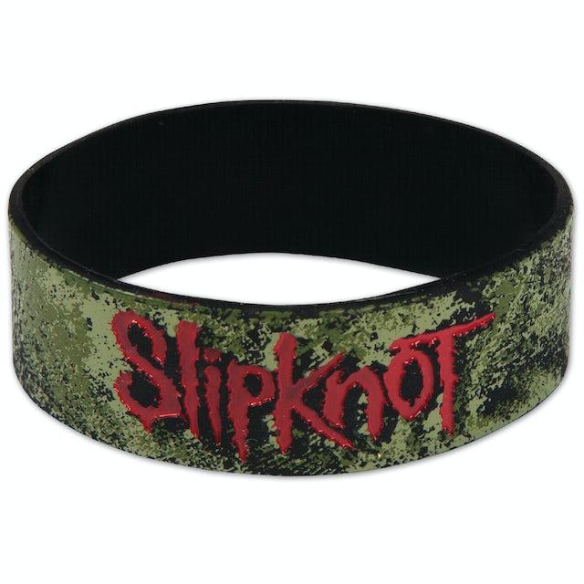 Slipknot Distressed Logo Wristband