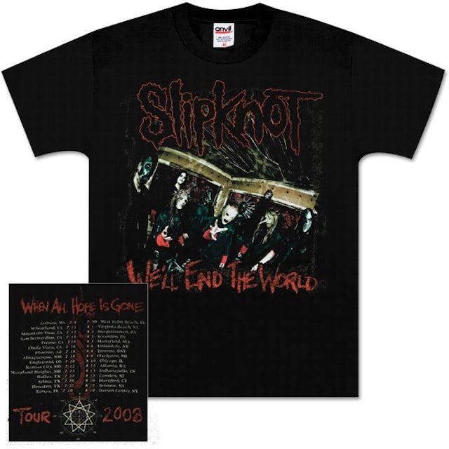 Slipknot All Hope Is Gone Tour T-Shirt